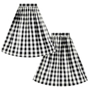 Hell Bunny Victorine Gingham 50's Skirt invidible mannequin front and back