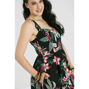 Image of Hell Bunny Kalani 50's Dress - Black on standard model - cropped