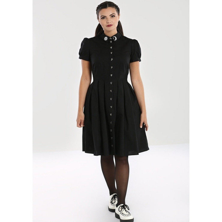 Image of Hell Bunny Samara Dress on standard model - front