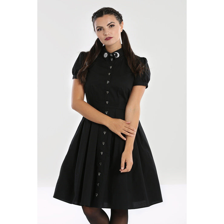 Image of Hell Bunny Samara Dress on standard model - cropped