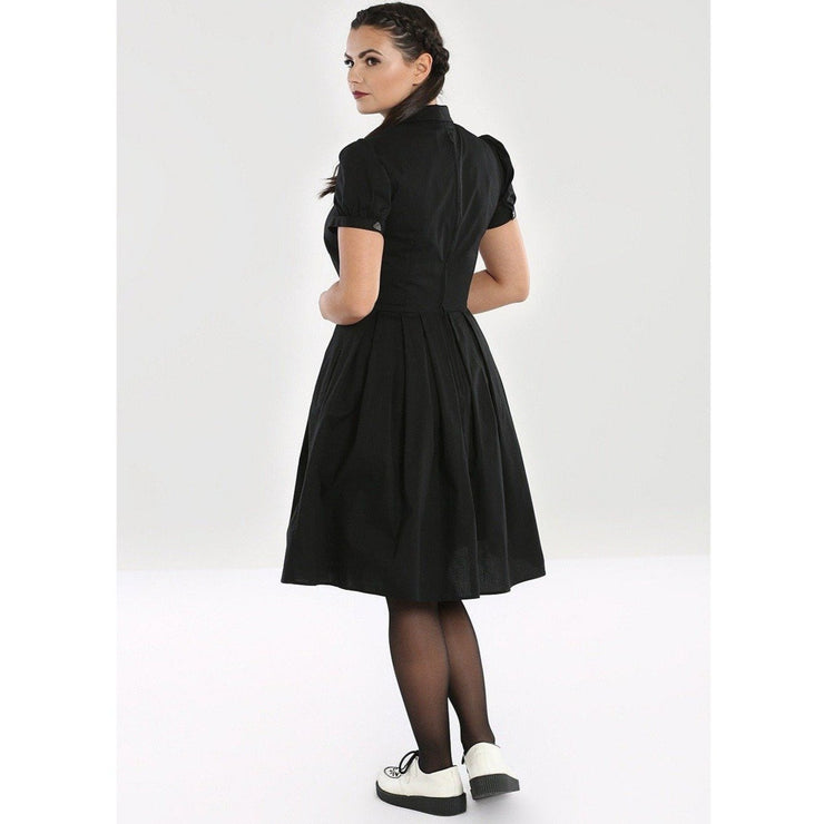 Image of Hell Bunny Samara Dress on standard model - back