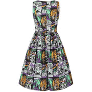 Image of Hell Bunny Be Afraid 50's Dress on invisible mannequin - front