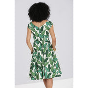 Image of Hell Bunny Rainforest 50's Dress on standard model - back