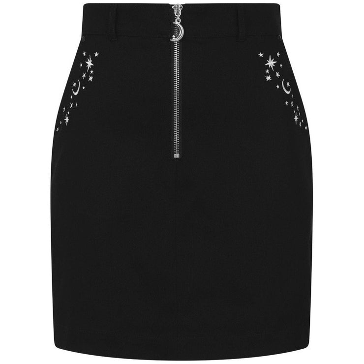 Image of Hell Bunny Interstellar Mini Skirt on invisible mannequin - front
