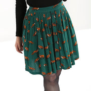 Image of Hell Bunny Vixey Skirt - Green on standard model - cropped