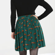 Image of Hell Bunny Vixey Skirt - Green on standard model - back