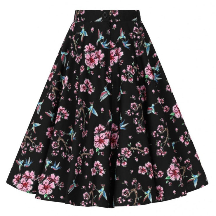 Image of Hell Bunny Madison 50s Skirt - Black on invisible mannequin - back