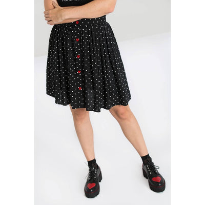 Image of Hell Bunny Allie Skirt on standard model - cropped