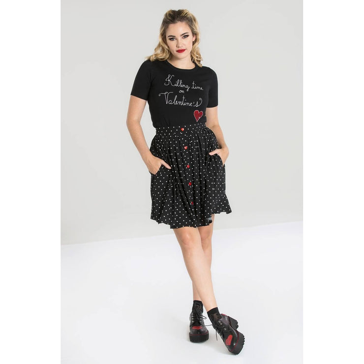 Image of Hell Bunny Allie Skirt on standard model - front