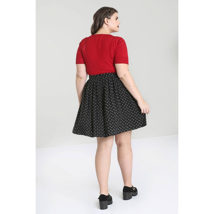 Image of Hell Bunny Allie Skirt on plus size model - back