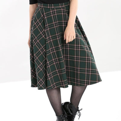 Image of Hell Bunny Miles Skirt on standard model - cropped