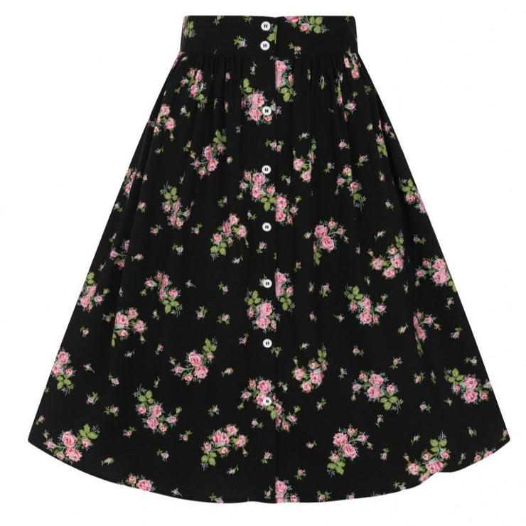 Image of Hell Bunny Bobby Sue Skirt - Black on invisible mannequin - front
