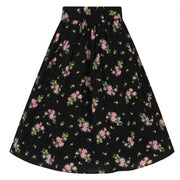 Image of Hell Bunny Bobby Sue Skirt - Black on invisible mannequin - back