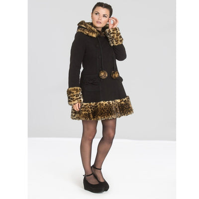 Image of Leah Jane coat on standard size model - front