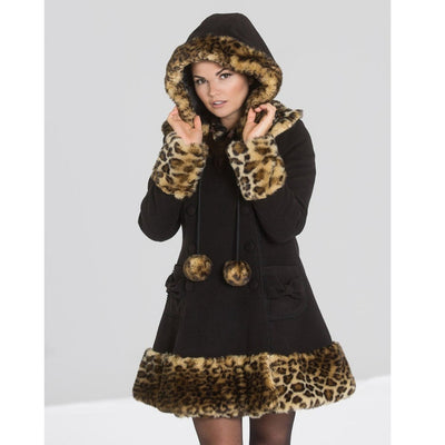 Image of Leah Jane coat on standard size model - cropped
