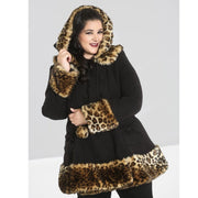 Image of Leah Jane coat on plus size model - front