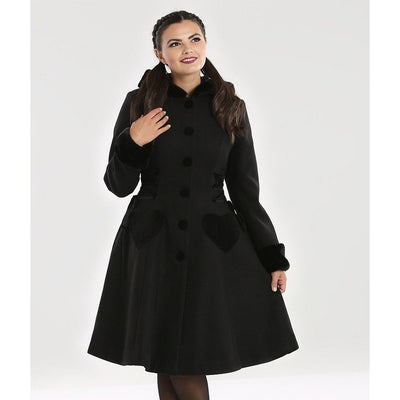 Image of Hell Bunny Scarlett Coat - Black on standard model - front