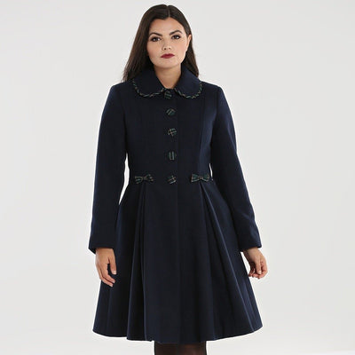 Image of Hell Bunny Tiddlywinks Coat - Black on standard model - front
