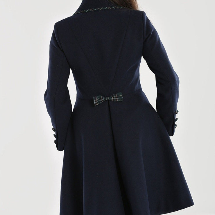 Image of Hell Bunny Tiddlywinks Coat - Black on standard model - back