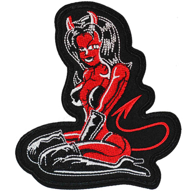 Devil Girl Pin Up Iron On Patch