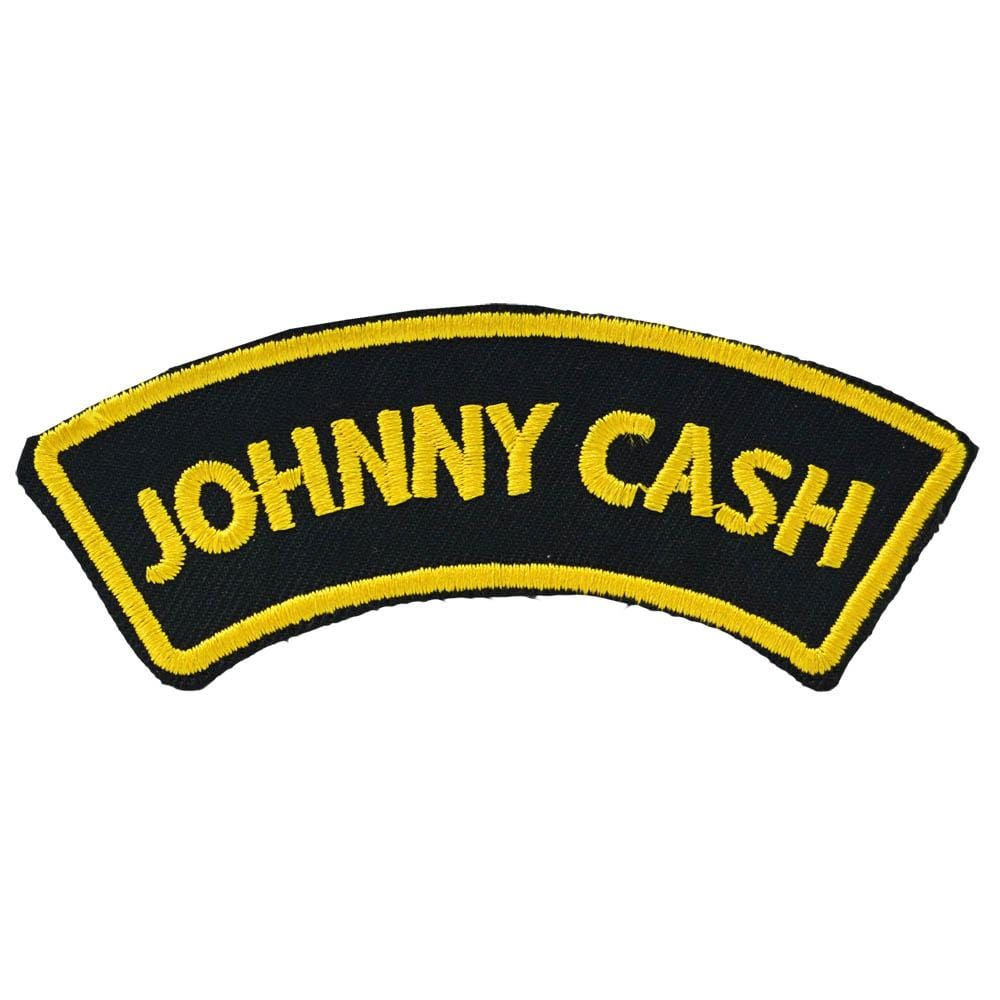 patch on airon neu Johnny Cash patch embroidery