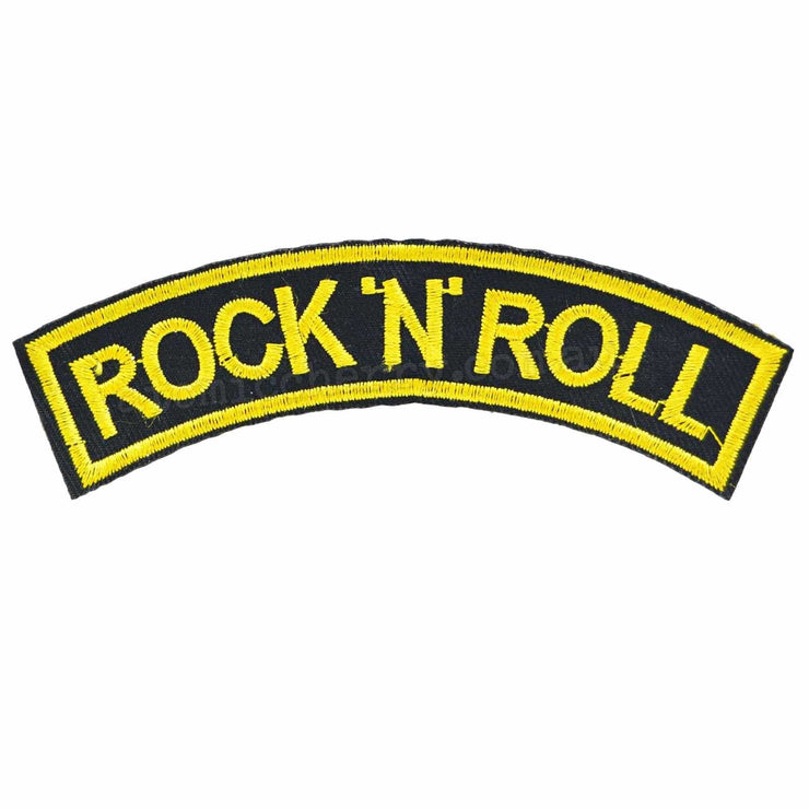 Image of Rock 'N' Roll Arch Iron On Patch