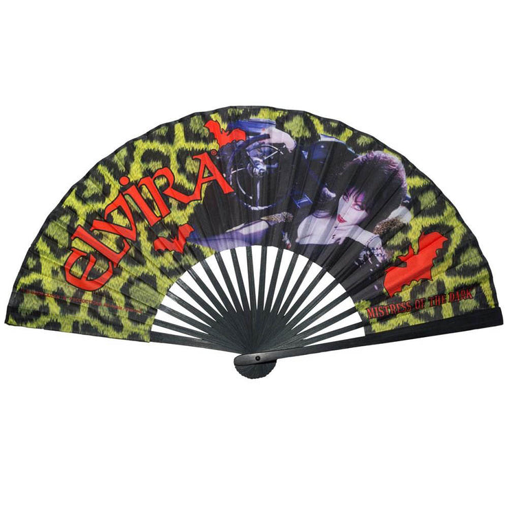 Kreepsville 666 Elvira Mistress Of The Dark Hand Fan Leopard print