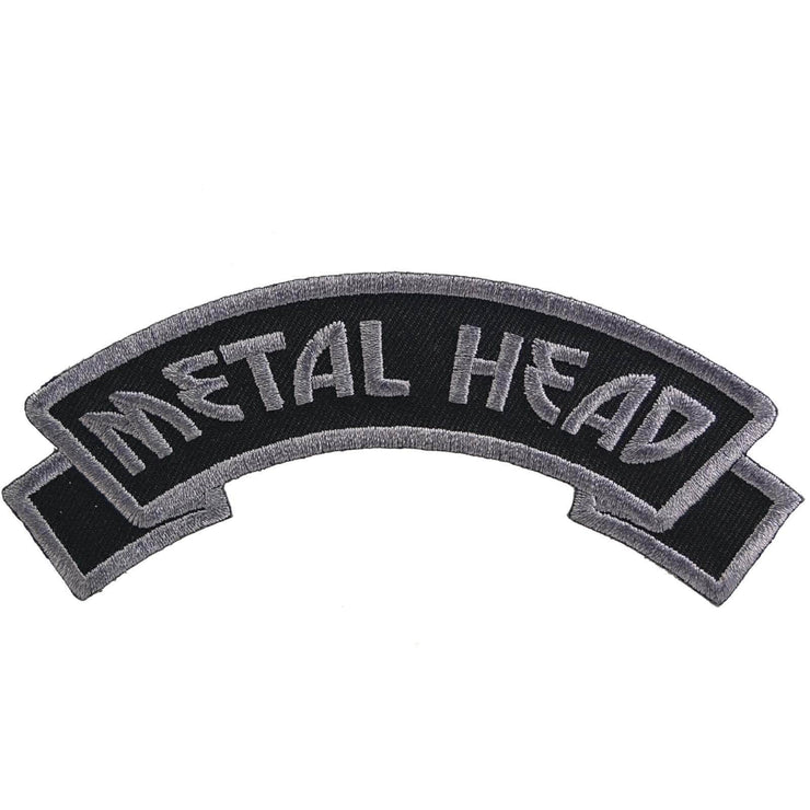 Image of Kreepsville 666 Metal Head Arch Iron On Patch