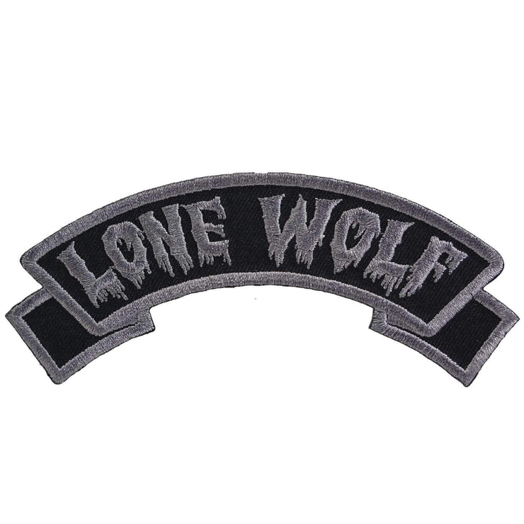Image of Kreepsville 666 Lone Wolf Arch Iron On Patch