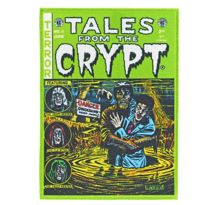 Image of Kreepsville 666 Tales From The Crypt Iron On Patch - Green