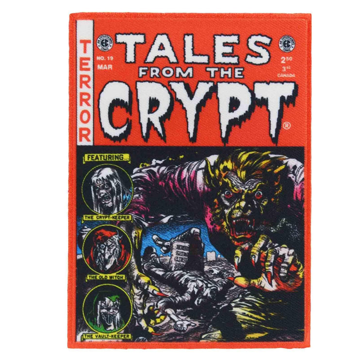 Image of Kreepsville 666 Tales From The Crypt Iron On Patch - Red