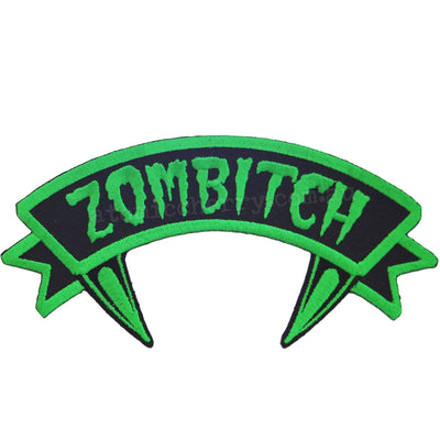 Image of Kreepsville 666 Green Zombitch Iron On Patch
