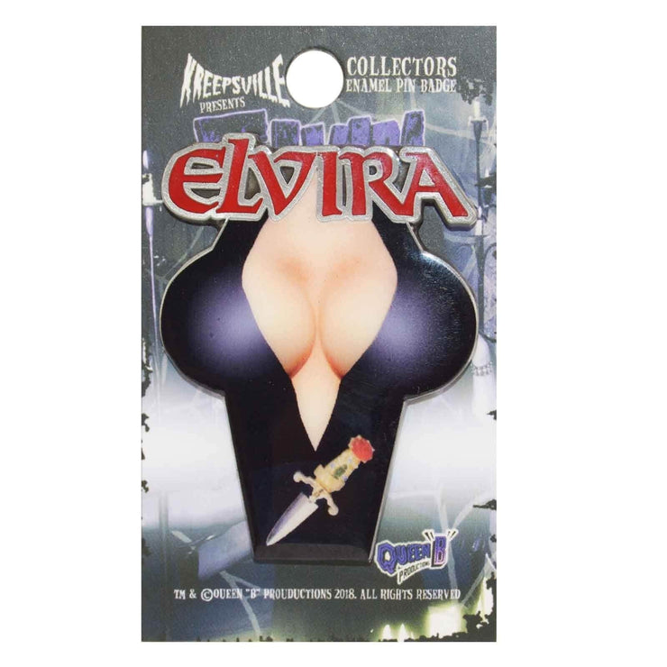 Image of Kreepsville 666 Enamel Pin - Elvira Chest