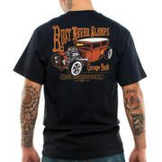 Image of Lucky 13 Men's T-Shirt - Rust Never Sleeps