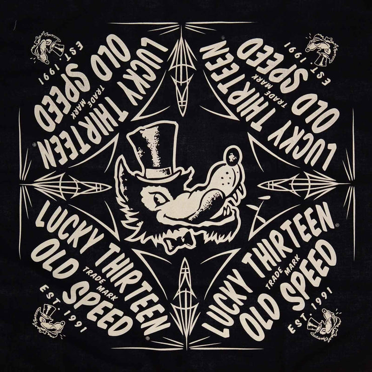 Image of Lucky 13 Old Speed Wolf Bandana