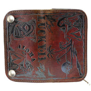 Lucky 13 Aloha Leather Wallet open front image