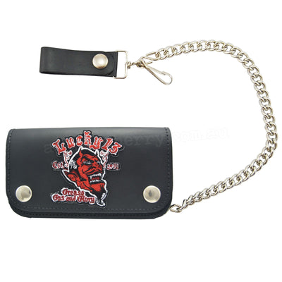 Image of Lucky 13 Grease Gas Glory Leather Chain Wallet