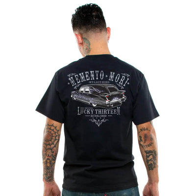 Lucky 13 Men's T-Shirt - Last Ride Hearse - model back
