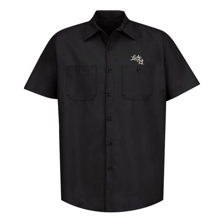 Lucky 13 Ace Of Spades Work Shirt - front