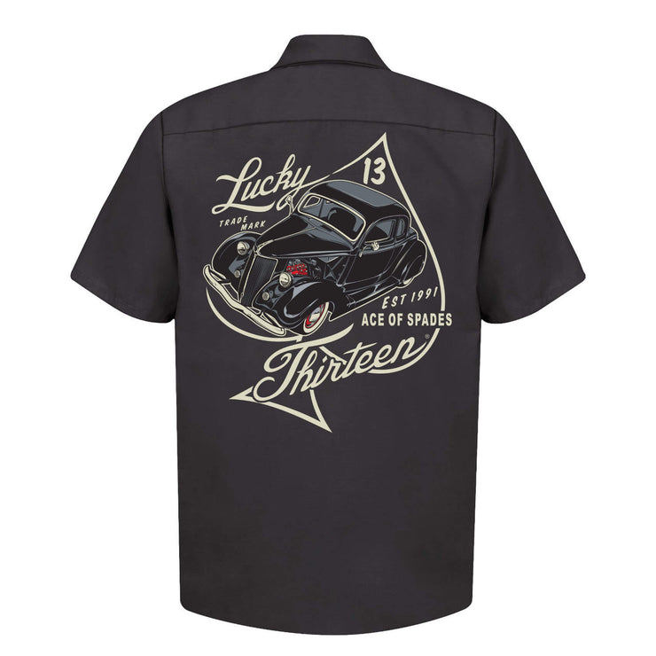 Lucky 13 Ace Of Spades Work Shirt - back