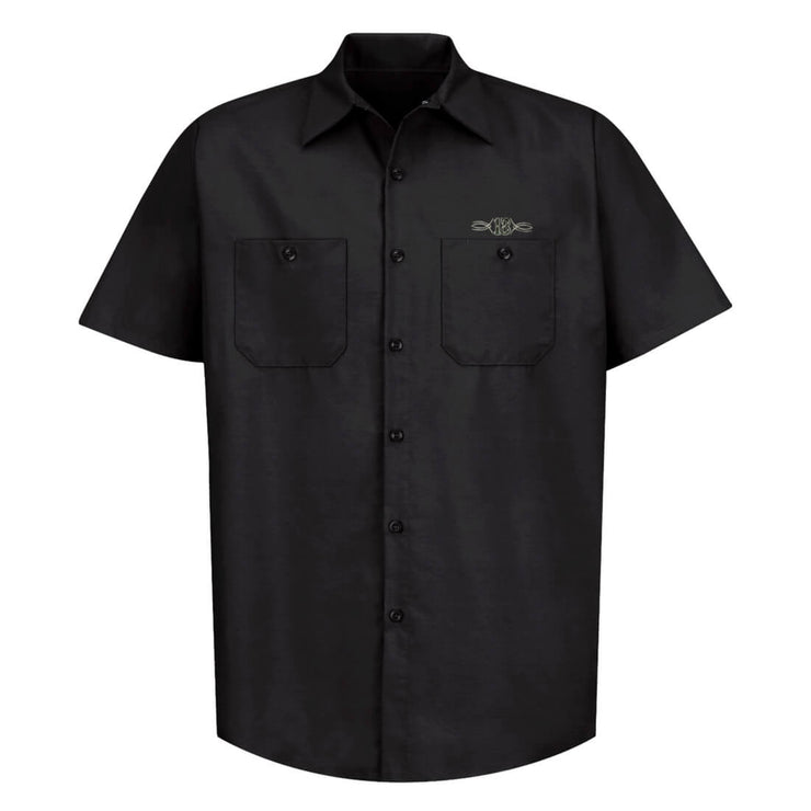 Lucky 13 Dragger Tow Truck Retro Work Shirt front