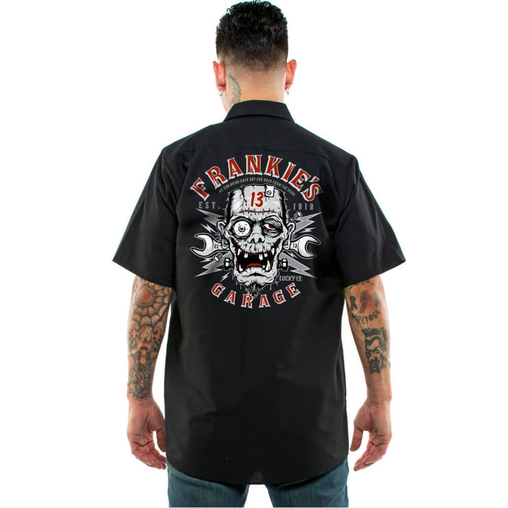 Lucky 13 Frankie's Garage Retro Work Shirt