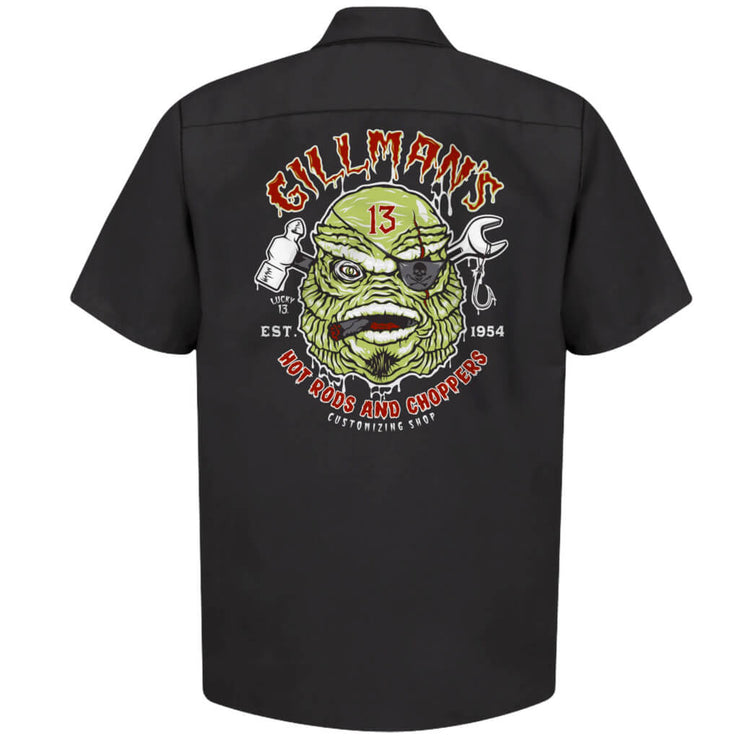 Lucky 13 Gilmans Retro Work Shirt back