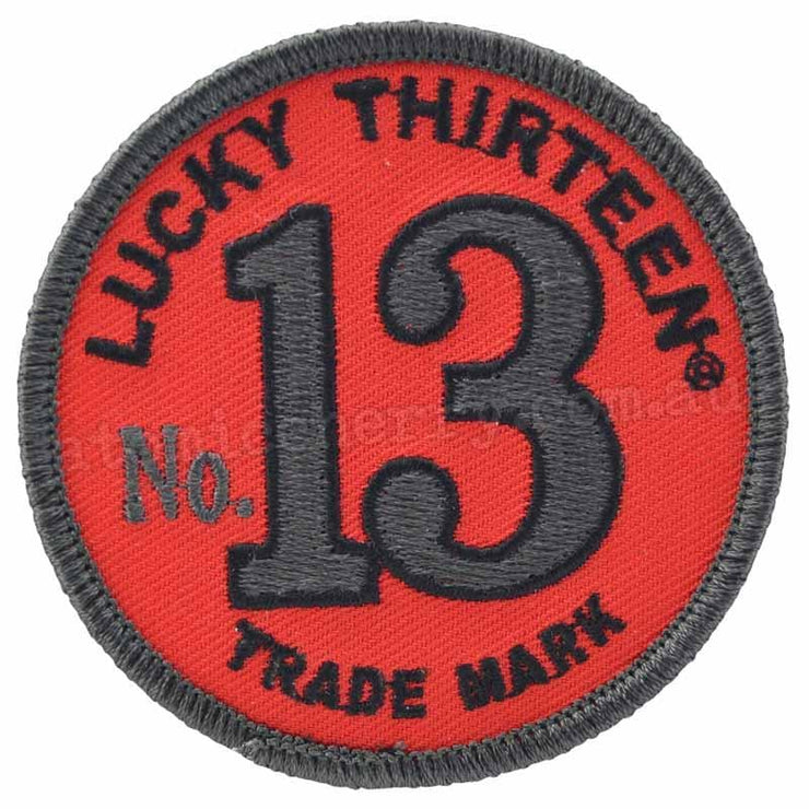 Image of Lucky 13 Crew 13 Iron On Patch