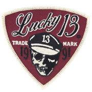 Image of Lucky 13 Dead Rocker Skull Patch