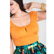 [Special Order] Hell Bunny Melissa Top - Orange model cropped