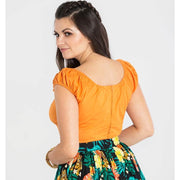 [Special Order] Hell Bunny Melissa Top - Orange model back