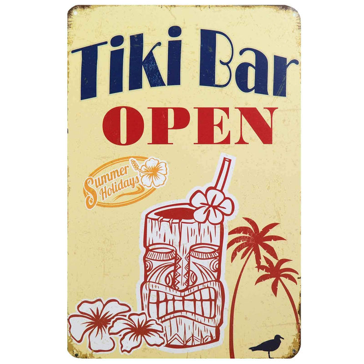 Image of Retro Metal Sign - Tiki Bar