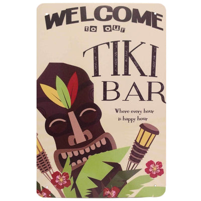 Retro Metal Sign - Welcome To Our Tiki Bar