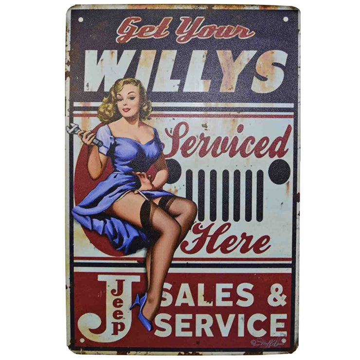 Retro Metal Sign - Willys Jeep